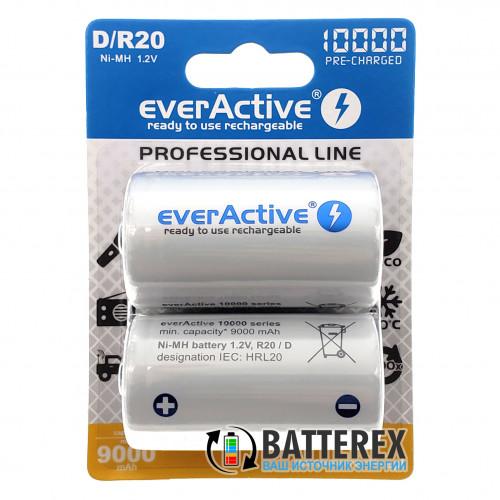 Аккумулятор D R20 Everactive 10000 mah Ready to use (цена за 1 шт.)