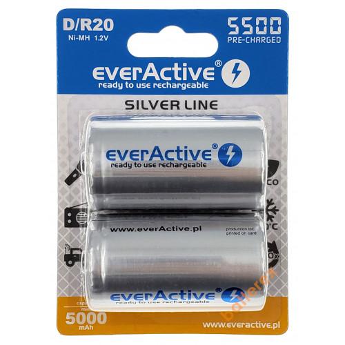 Аккумулятор D R20 Everactive 5500 mah Ready to use (цена за 1 шт.)
