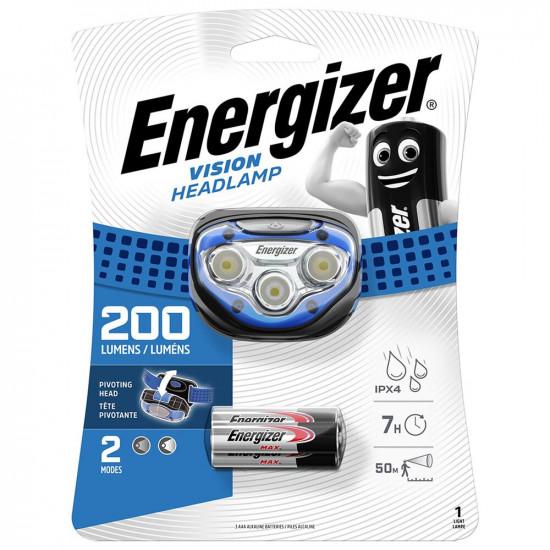 Налобный фонарь Energizer Vision Headlamp 200 lumens Blue