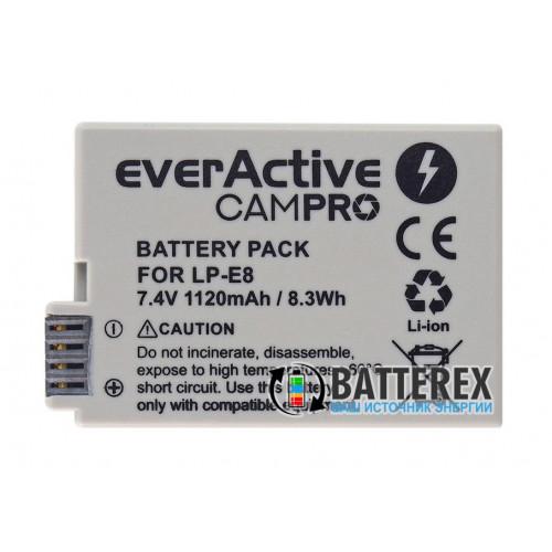 Aккумулятор Everactive CamPRO для камеры Canon LP-E8 7.4V 1120mah 8.3Wh