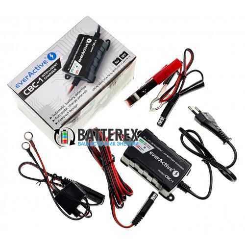 EverActive CBC-1 - интеллектуальное зарядное устройство для авто и мото аккумуляторов 6V/12V