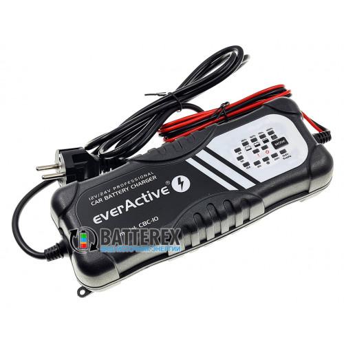 EverActive CBC-10 - мощное интеллектуальное зарядное устройство для автомобильных аккумуляторов 12V/24V