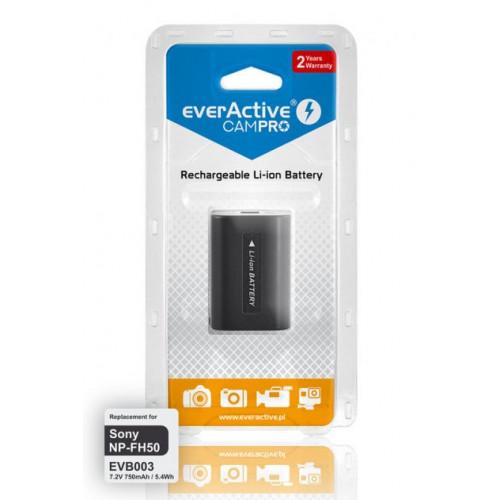 Аккумулятор EverActive CamPRO для камеры Sony NP-FH50 7.2V 750mah 5.4Wh