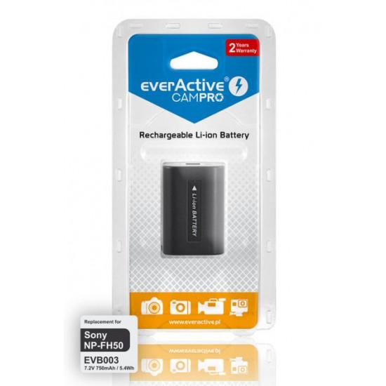 Аккумулятор для камеры Sony NP-FH50 (EVB003) EverActive CamPRO 7.2V 750mah 5.4Wh