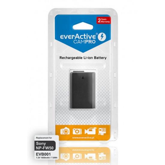 Аккумулятор для камеры Sony NP-FW50 (EVB001) EverActive CamPRO 7.2V 1050mah 7.6Wh
