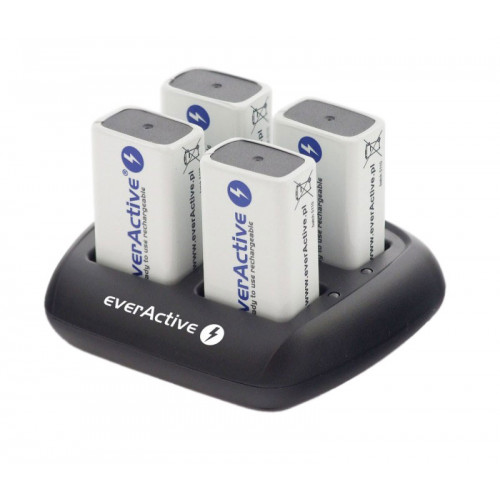 EverActive NC-109 - 4х-канальное зарядное устройство для Ni-MH аккумуляторов Крона 9V