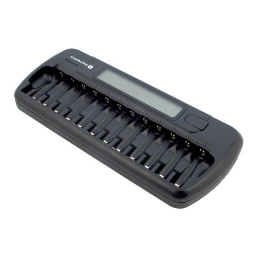 EverActive NC-1200 - зарядное устройство на 12 аккумуляторов АА и ААА с функцией разряда