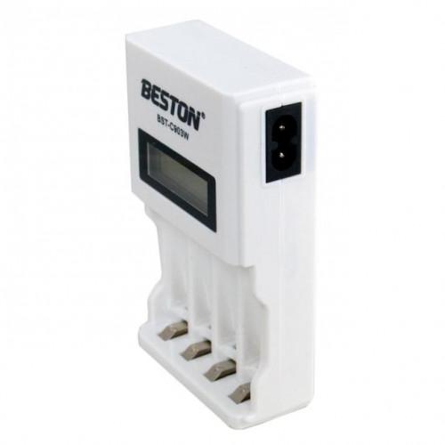 Beston C903W - зарядное устройство на 4 независимых канала для AA и AAA аккумуляторов NiMH/Ni-Cd