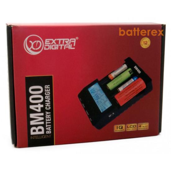 Продвинутое зарядное устройство Extradigital BM 400 v2.2 для Ni-MH и Li-ion аккумуляторов AA, AAA, 18650, 21700, 20700, 26650 и др.
