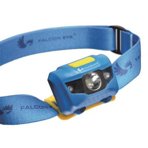 Falcon Eye FHL0011 - налобный фонарь 110 люмен (белый и красный свет, 4 режима, питание от 3х ААА)