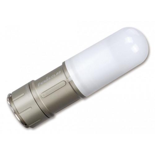 Фонарь кемпинговый Fenix CL09 серый - 200 люмен, 4 уровня яркости, аккумулятор 16340 Fenix 700mah USB в комплекте