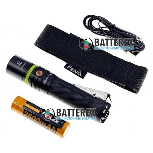 Фонарь Fenix UC30 с зарядкой от USB 1000 люмен + аккумулятор 18650 Fenix 2600mah - оригинал - бесплатная доставка