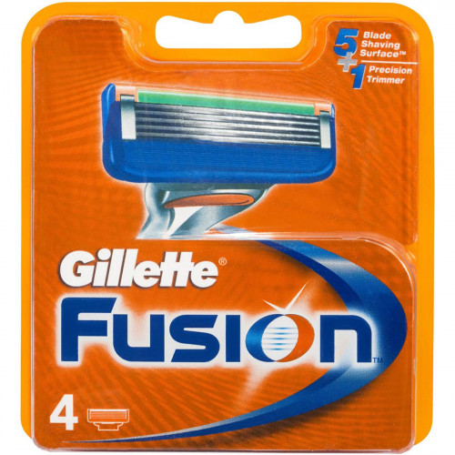 Gillette Fusion - 4 лезвия в упаковке - оригинал Германия