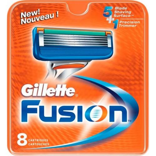 Сменные лезвия Gillette Fusion упаковка 8 шт.