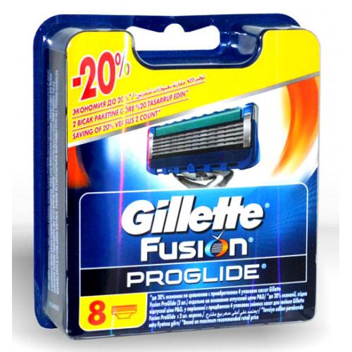 Gillette Fusion Proglide - 8 лезвий в упаковке - оригинал Германия