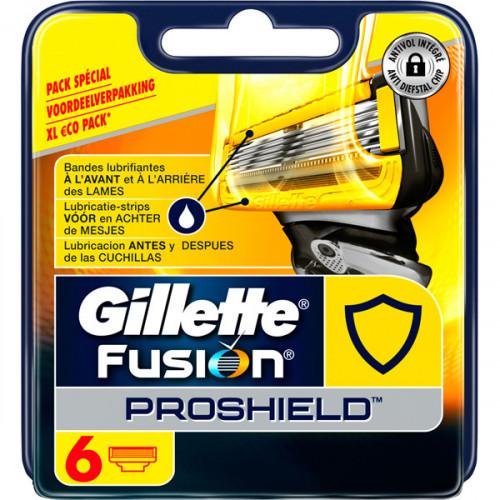 Gillette Fusion Proshield - упаковка 6 лезвий - оригинал