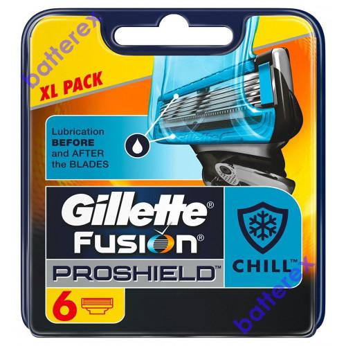 Gillette Fusion Proshield Chill - упаковка XL Pack 6 лезвий - оригинал Германия