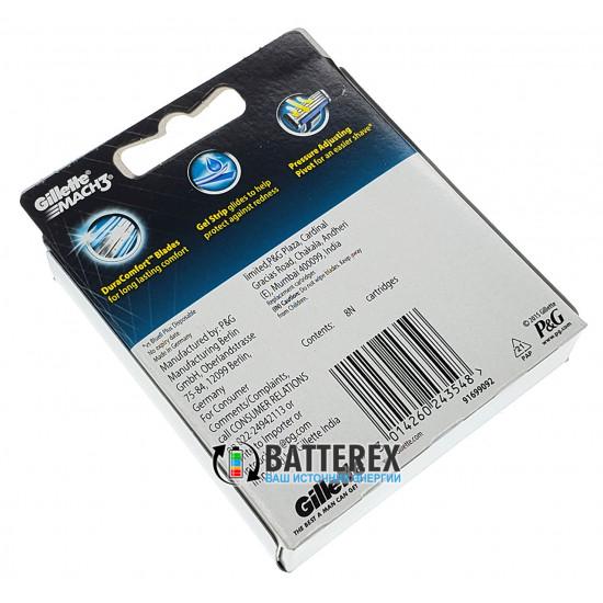 Упаковка 8 шт. лезвий Gillette Mach3 для гладкого и комфортного бритья
