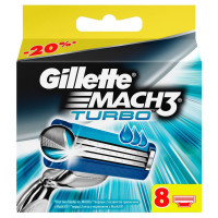 Gillette Mach3 Turbo - упаковка 8 лезвий - оригинал Германия
