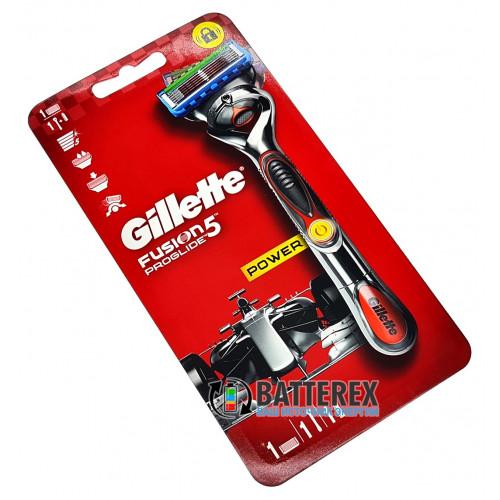 Станок Gillette Fusion Proglide Power с виброузлом + 1 лезвие и 1 батарейка ААА - оригинал
