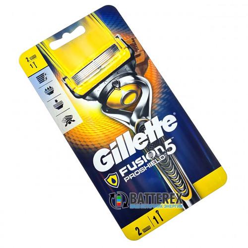 Станок Gillette Fusion5 Proshield FlexBall + 2 лезвия и подставка - оригинал