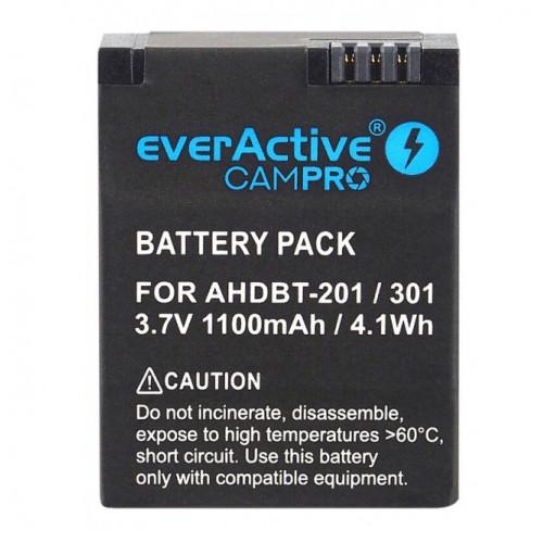 Аккумулятор для камеры GoPro Hero 3/3+ (AHDBT-301) EverActive CamPRO EVB023 1100mAh