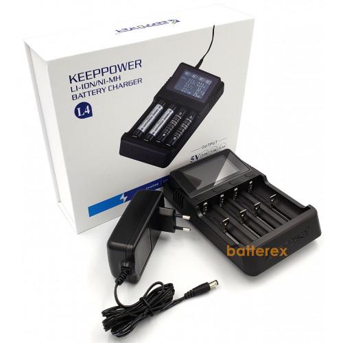 KEEPPOWER L4 - продвинутое интеллектуальное зарядное устройство для Ni-MH и Li-ion аккумуляторов (разряд, тест, активация аккумуляторов, подключение к ПК)