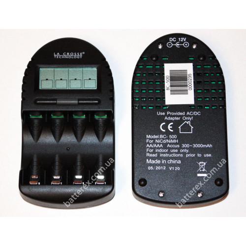 LaCrosse BC-500 - зарядное устройство с функциями разряда и теста ёмкости