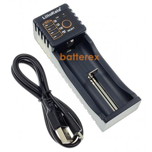 LiitoKala Lii-100 (универсальное зарядное на 1 аккумулятор с функцией Powerbank) + сетевой USB адаптер Liitokala 5V 2A