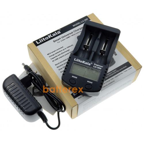 LiitoKala Lii-300 - интеллектуальное зарядное устройство на 2 аккумулятора NiMH и Li-ion с разрядом, тестом ёмкости и функцией PowerBank. Оригинал - гарантия 12 месяцев
