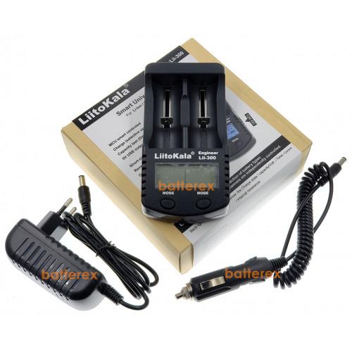 LiitoKala Lii-300 - интеллектуальное 2х-канальное зарядное + автоадаптер. Оригинал, гарантия 12 месяцев