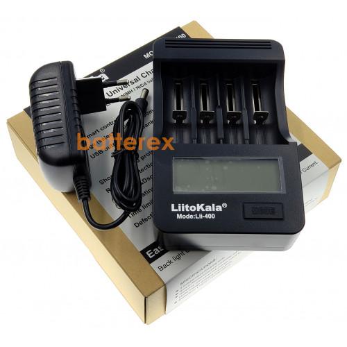 LiitoKala Lii-400 - 4х-канальная зарядка для Ni-MH/Li-ion (дисплей, функция PowerBank, выбор тока заряда). Оригинал, гарантия 12 месяцев