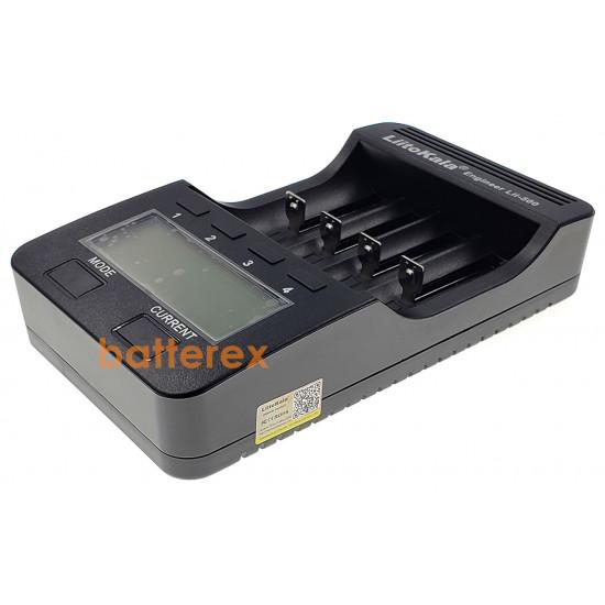 LiitoKala Lii-500 интеллектуальное зарядное устройство для NiMH и Li-ion аккумуляторов (AA, AAA, 18650, 21700 и др.) с тестом ёмкости, выбором тока и функцией Повербанк