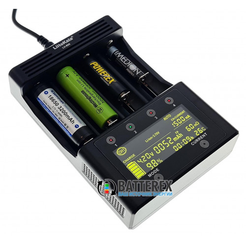 LiitoKala Lii-600 - мощная продвинутая зарядка для AA/AAA/Li-ion (разряд, тест, восстановление, ток до 3А на канал, сенсорное управление). Оригинал, гарантия 12 месяцев.