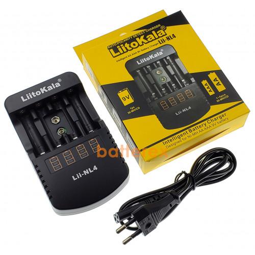 LiitoKala Lii-NL4 - автоматическое зарядное устройство для аккумуляторов АА/ААА/Крона. Оригинал, гарантия 12 месяцев