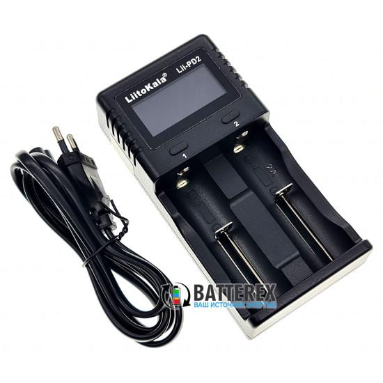 LiitoKala Lii-PD2 - сетевое зарядное устройство на 2 аккумулятора Ni-MH, Li-ion, LiFePO4 с дисплеем