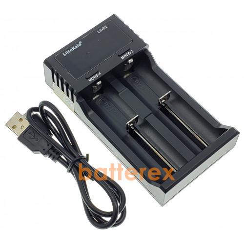 LiitoKala Lii-S2 - 2-канальное зарядное устройство для аккумуляторов Ni-MH/Li-ion/LiFePO4 c дисплеем и выбором тока заряда 0,5A/1A/2A
