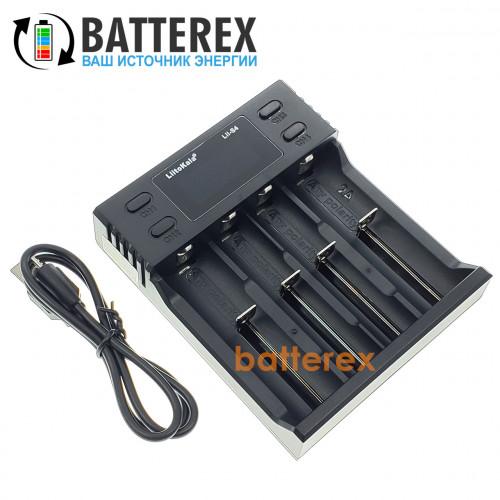 LiitoKala Lii-S4 - 4-канальное зарядное устройство для аккумуляторов Ni-MH/Li-ion/LiFePO4 c дисплеем и выбором тока заряда 0,5A/1A/2A