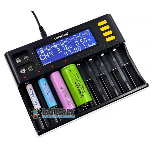 LiitoKala Lii-S8 - 10-канальное зарядное устройство (8 каналов для аккумуляторов Li-ion/LiFePO4/NiMH + 2 канала для Крон NiMH)