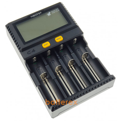 MIBOXER C4 V4 с разрядом - зарядка на 4 аккумулятора Li-ion/LiFePO4/Ni-MH. Гарантия 12 месяцев.