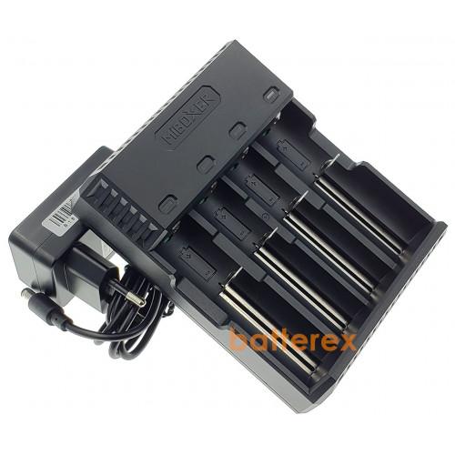 MIBOXER C4S - быстрая зарядка на 4 аккумулятора Li-ion/NiMH с активацией разряженных аккумуляторов. Гарантия 12 месяцев.