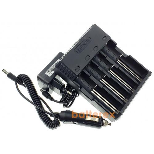 MIBOXER C4S + автоадаптер - 4-канальная зарядка для Li-ion и NiMH аккумуляторов с активацией разряженных аккумуляторов. Гарантия 12 месяцев.