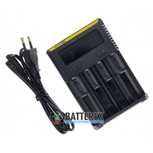 Nitecore NEW i4 - универсальное зарядное устройство на 4 аккумулятора NiMH, Li-ion и LiFePO4 (ток заряда до 1.5А) - оригинал, гарантия 12 месяцев