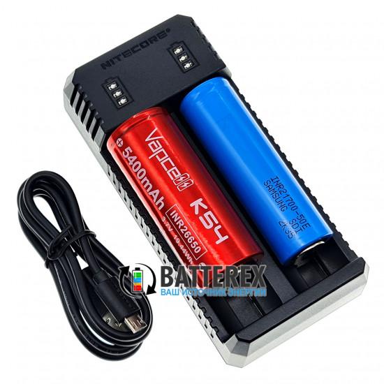 Зарядное устройство Nitecore UI2 на 2 Li-ion аккумулятора 18650, 21700, 18500, 14500, 26650