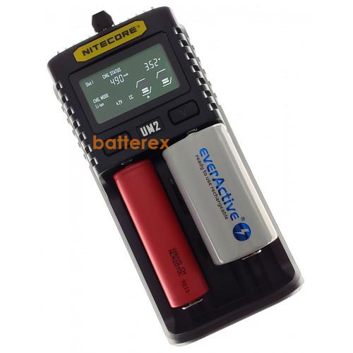 Nitecore UM2 - быстрое универсальное зарядное устройство на 2 аккумулятора Li-ion/NiMH с подключением через USB. Оригинал - гарантия 12 месяцев