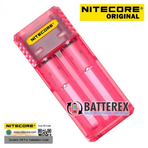 Nitecore Q2 Pinky Peach (розовое) - быстрое сетевое зарядное устройство на 2 канала для Li-ion аккумуляторов