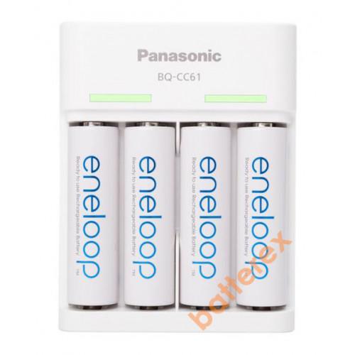 Panasonic Eneloop BQ-CC61 USB Charger + 4 аккумулятора AA Panasonic Eneloop 2000mah