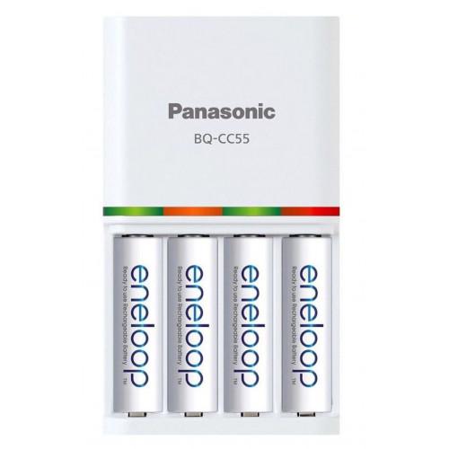 Фирменный комплект Panasonic Eneloop BQ-CC55E Smart&Quick Kit: быстрое зарядное устройство + 4 аккумулятора AA Panasonic Eneloop 2000mah