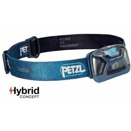 Фонарь налобный Petzl Tikkina 250 lumens Blue (3 AAA, 3 режима, 120 часов) - оригинал