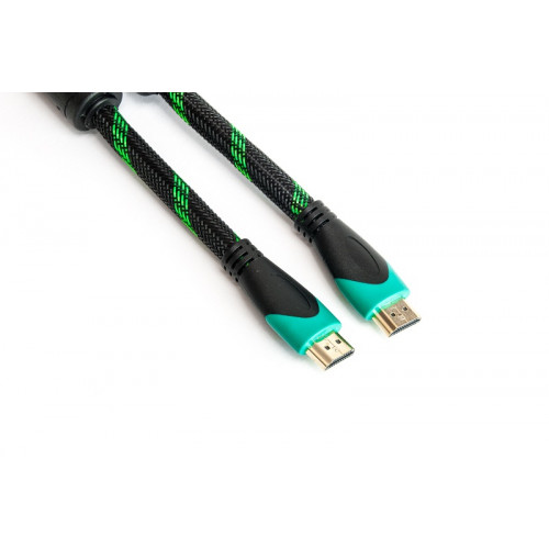 Кабель HDMI - HDMI, 1.5м, позолоченные коннекторы, 2.0V, Double ferrites, Highspeed